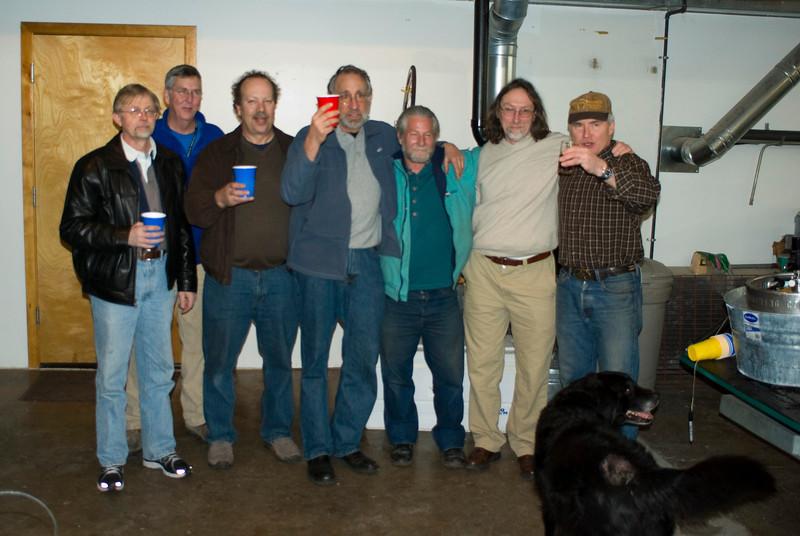 left to right: Doug Fattic, Ed Litton, Mark Nobeleitte, Bruce Gordon, Brian Baylis), Bill Davidson, Andy Newlands.  Avg 34 years building experience.