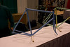 Primed but not yet painted bike by Brian Baylis.  Impeccible work and even the primer looked ready to ride.