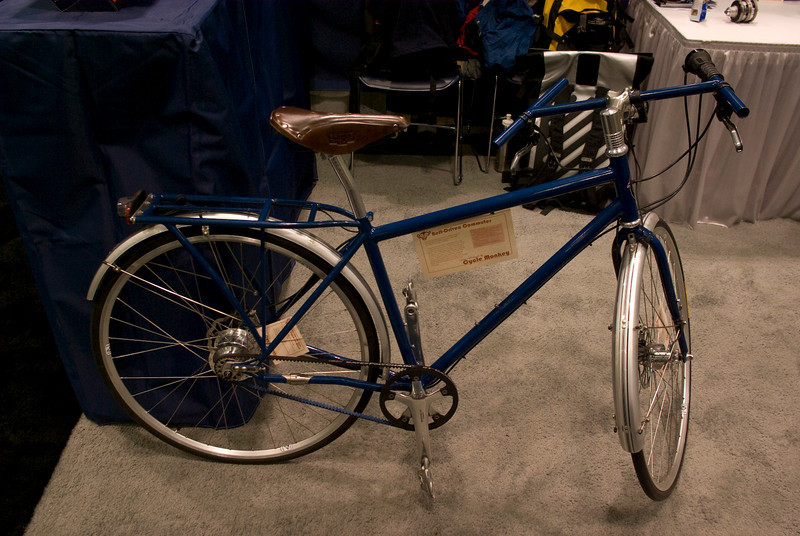 I liked this Curtlo commuter with a Rohloff and belt drive.