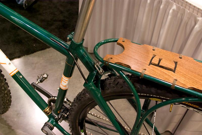 The rear rack is custom.