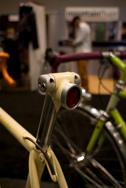 Seatpost with an integrated working taillight.