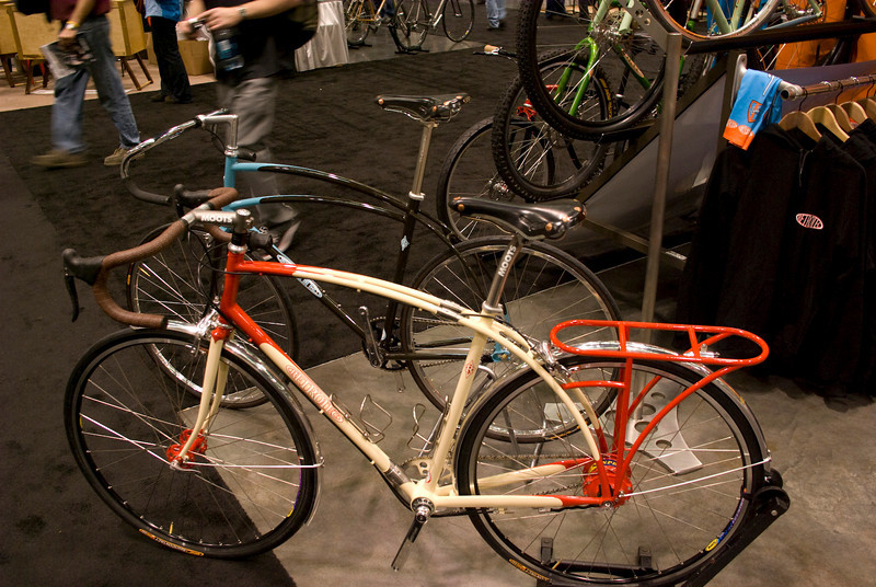 A commuter by Retrotec with twin top tubes.  They had tiny S&S couplers.