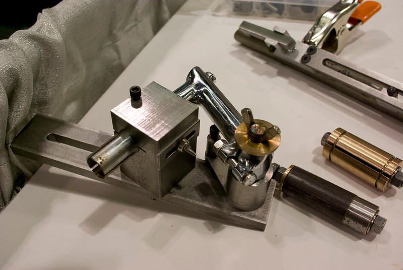 Sputnik stem jig.  I took a lot of personal photos of jigs, maybe I'll post another collection of them.  Sadly Anvil wasn't able to make it this year, they have very interesting ones.