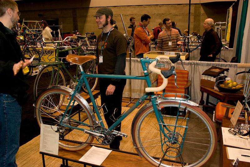 Randoneeuring/camping bike from Pereira Cycles, built for BOB list member Jon Muellner.