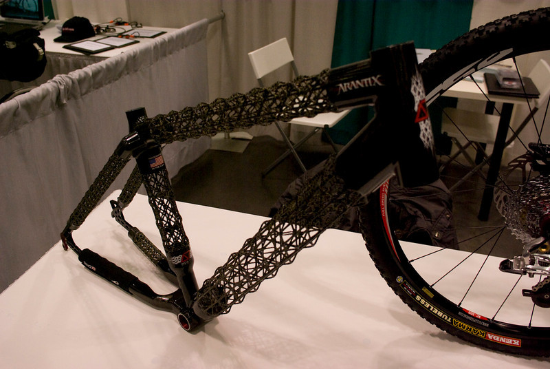 Delta 7 open carbon frame.  They claim that it is very light (I didn't lift it up).