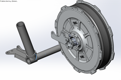 Hub motor FWD electric trike
