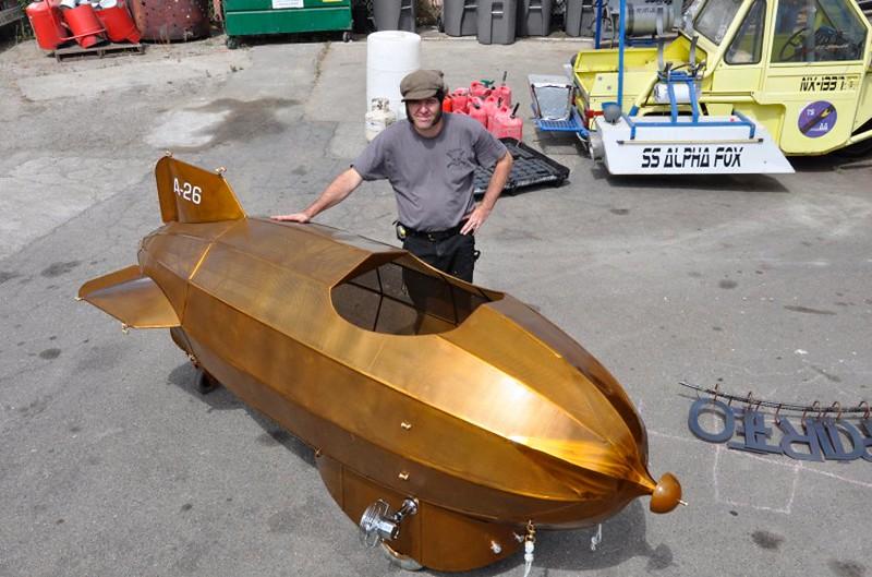 Abgefahren: Goldener Zeppelin