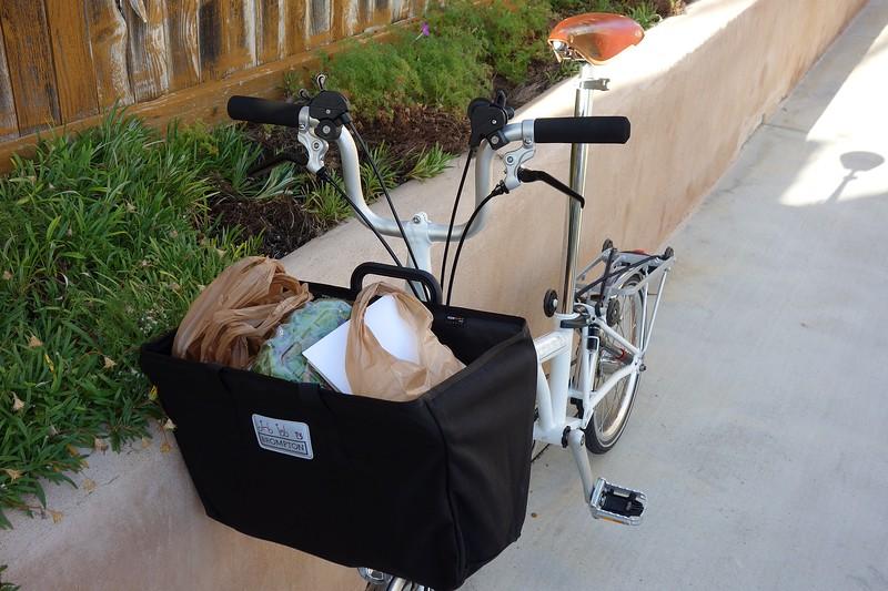 Bike handles a bit better with a load it seems like so far.
