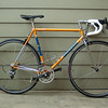 "Side profile.<br /> <br /> The saddle-to-bar drop is about 2"", or about the same as my Seven.  That's definitely more drop than with my Della Santa but certainly nowhere close to my Ciocc when I was racing it.  That Ciocc had a much smaller frame (ST 52cm c-c) and had its -17 degree stem ""slammed"".  Even then, I was still exploring ways to make that handlebar lower.  What I'll give to be young and flexible again!  LOL!  Anyhow, a 2"" drop is about as far as I can go now; any lower and both my back and stomach will ache.  The back is self-explanatory and the stomach because it's such a gut, my thighs hit it with every stroke!  LOL!"