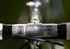 "Nitto threadless lugged stem with Nitto model 177-LT ""Soba"" handlebar."