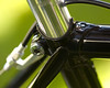 """Detail of Richard Sachs """"Richie-issimo"""" seat lug.<br /> <br /> (White specks on top tube are pollen, not gold sparkle!)"""