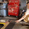 Using the large radius bending mandrel and a cheater bar.