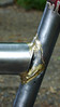 Cargo tube/seat tube junction.  I added a gusset to spread the load and because my cargo tube was 1mm short and I didn't want to remiter the top tube.