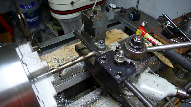 """Final pass with the 1/2"""" drill bit.  It miters done this way were rough and required cleanup, I went back to just using a combo of a 12"""" round file and a 6"""" half-round file."""