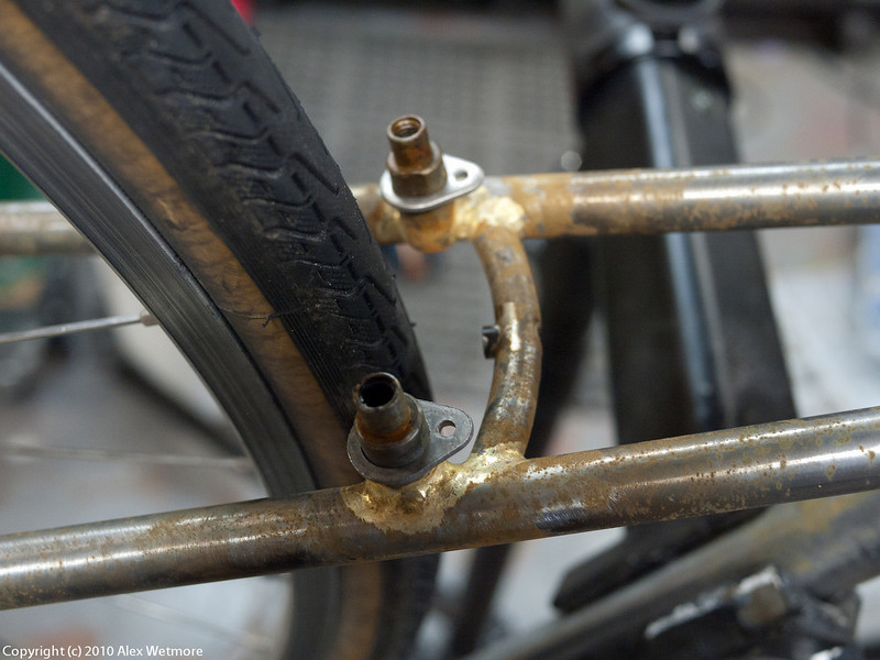 Finished brazing, flux removed