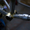 Fillet brazed BB and downtube coupler.
