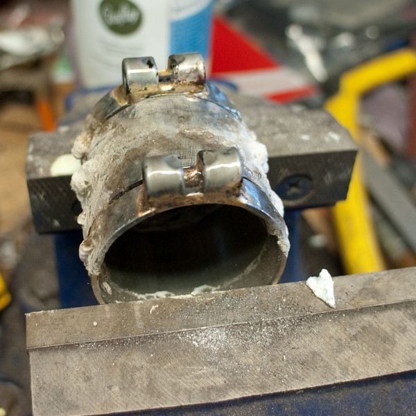 Eccentric bottom bracket binders brazed on