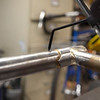 Comparing it at the top end of the seat tube