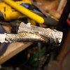 Brazing on a scrap of tubing to cover the end of the seatstay.