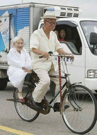 Heart warming bicycle pictures