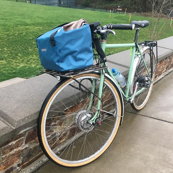 Ortelib Bike Basket on the bike