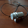 "The assembled headlight.  It is 1 1/8"" in diameter and about 2.5"" long.  One CREE XR-E LED."