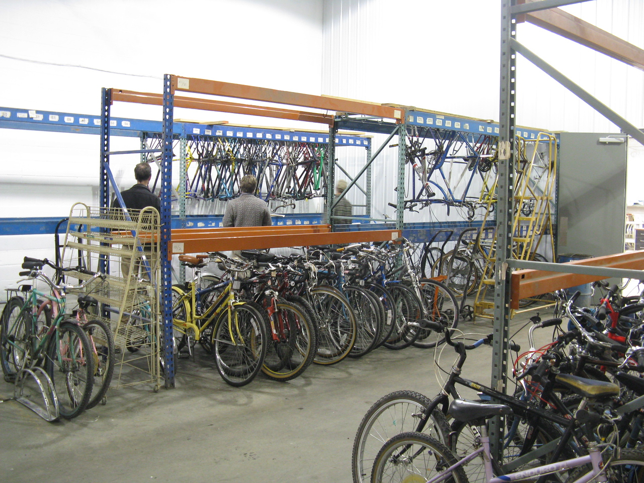 The new Retail Space, complete with racks to eventually have multiple levels of retail bikes!