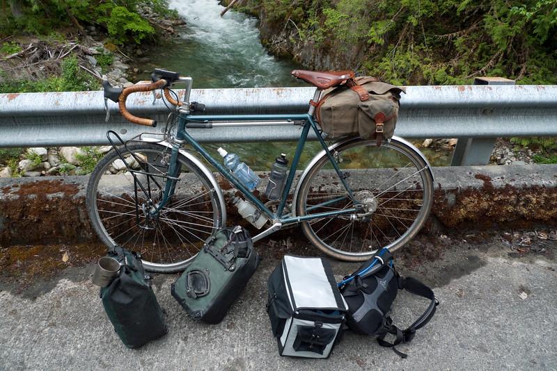pile o stuff with my bike