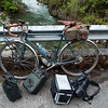 pile o stuff with my bike