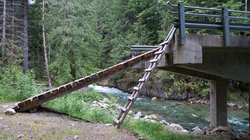 the ramp to the bridge.  it's pretty steep.