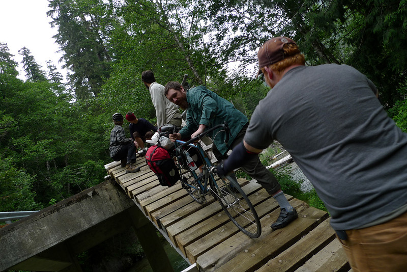 Getting bikes down the ramp