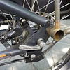 I copied the Benno mounting points.  The rear triangle of this bike is offset by 20mm to clear fat tires, so this rack mount has a built in spacer.