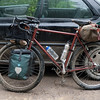 My bike with too much stuff.  That Baggin's Hoss is just too big and was going to rub the tire.
