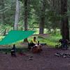 Wet campsite, first night.