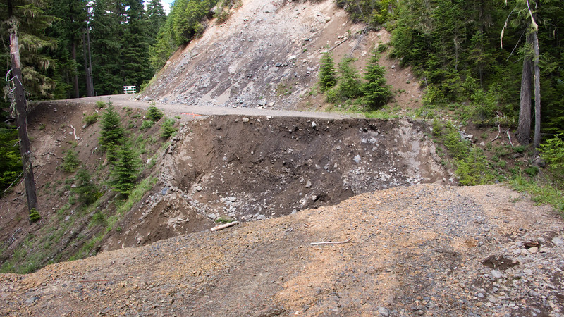 First views of the washout that we had to Portage on NF-23