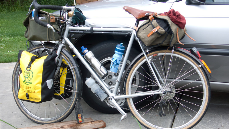 John's bike ready to ride