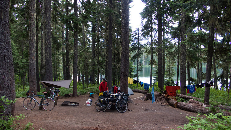 Our campsite at Lake Takhlakh