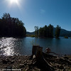 Cooling off at Kachess Lake after a good ride.