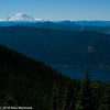 Kachess Lake is 3000' below us and Mt Rainier is off in the distance.