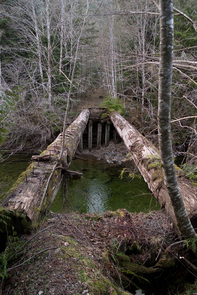 Remains of a bridge
