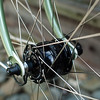SONdelux front hub laced to IRD Cadence rims with DT Revolution spokes and NOS Edco brass nipples.