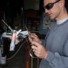 Martin silver brazes a lug with oxy/acetylene