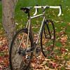 New photo series from late November of 2009.  The Seven got a carbon seatpost (gift from a friend that I squirreled away for years), a Lezyne pump, and a King Ti cage (on the downtube).  It also got a Cateye cadence/speed computer to replace its speed-only computer.