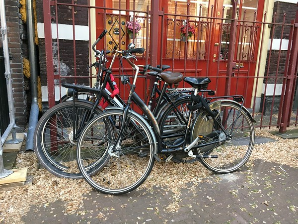 Bicycles and red doors, Amsterdam, The Netherlands