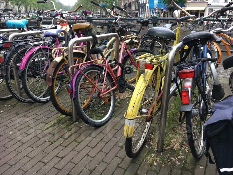 Rainbow of Bicycles, Amsterdam, The Netherlands