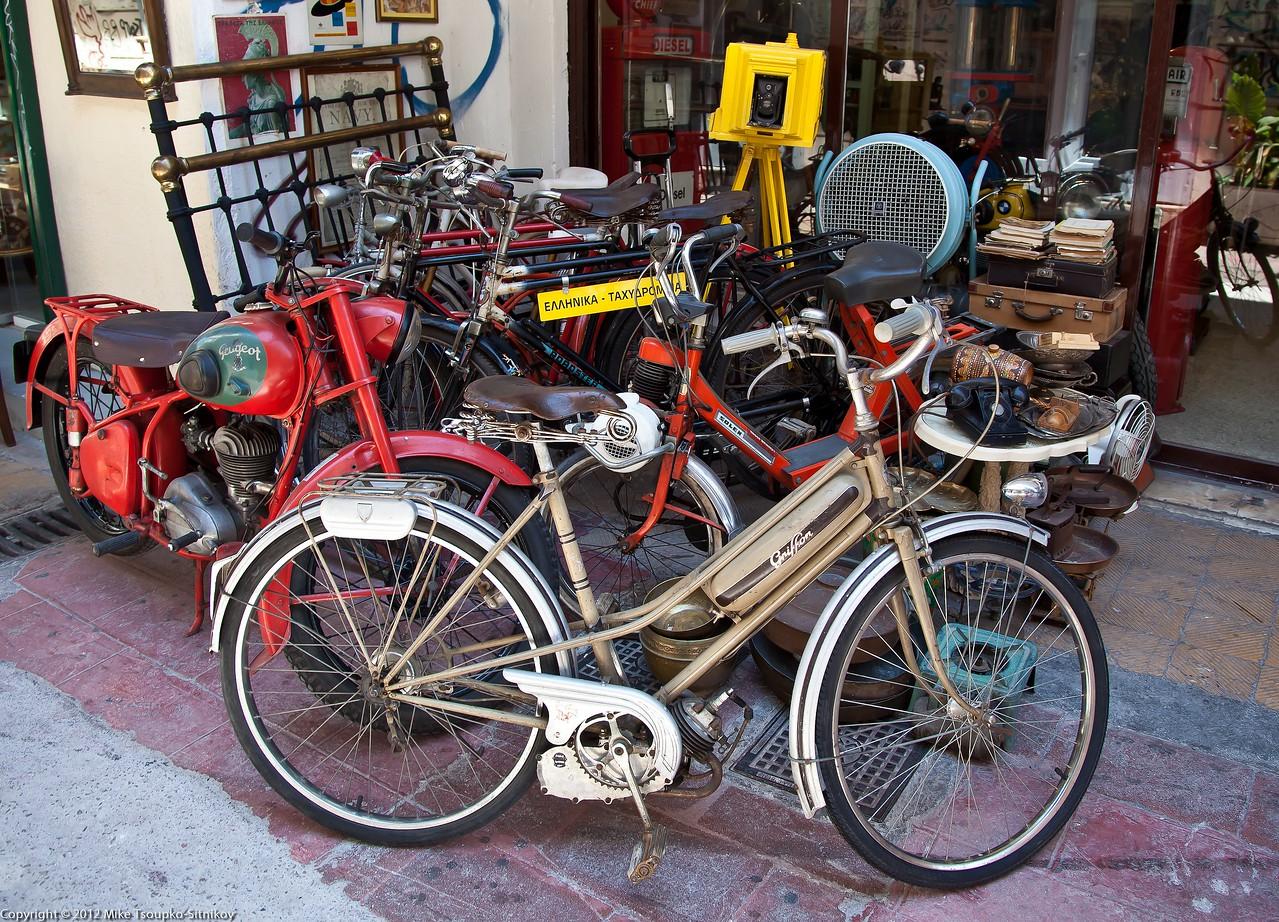 Athens - an antique bicycle shop