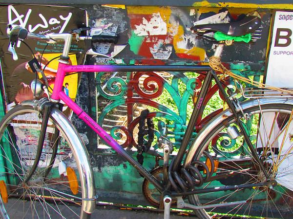 Bicycle on Art Deco Bridge, Berlin, Germany