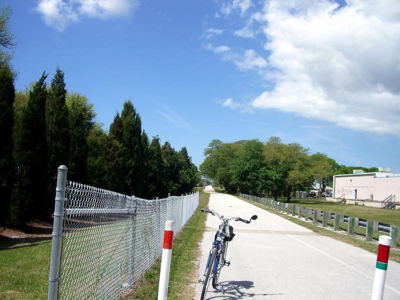 BIKING TO END OF PINELLAS TRAIL 2008