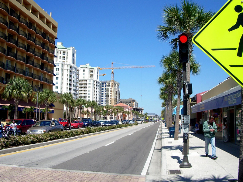clearwater beach, flordia main street