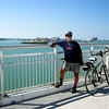 bicycle trip though clearwater beach, flordia